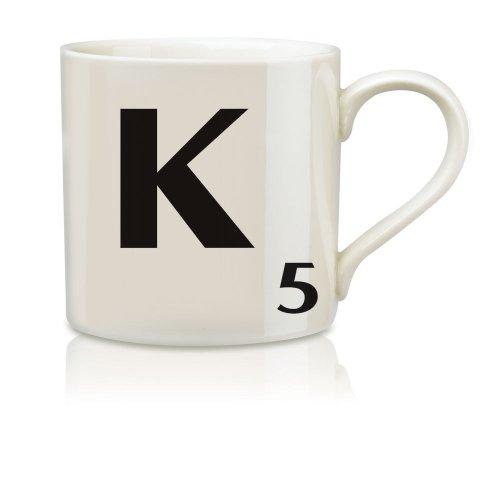 Imagen de Salvaje y Wolf Ltd Scrabble Alfabeto Taza - K * Harsboro taza de café Bebidas SCR011