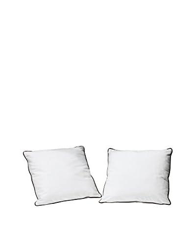 13CASA Set Cuscino 2 Pz. Bicolor A15 Bianco