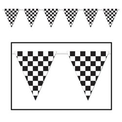 Checkered Giant Pennant Banner Party Accessory (1 count) (1/Pkg) - 1