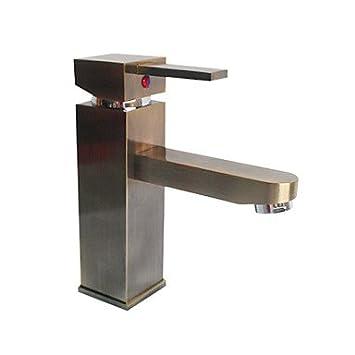 antike bronze centerset quadratischen waschbecken. Black Bedroom Furniture Sets. Home Design Ideas