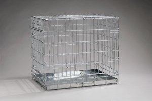gitterbox f r hunde 1 tuer verzinkt 49x36x40cm amazon. Black Bedroom Furniture Sets. Home Design Ideas