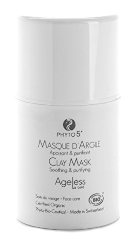 Clay Mask by Ageless La Cure – Natural, Organic Soothing and Hydrating by Phyto 5, 1.75 Ounce