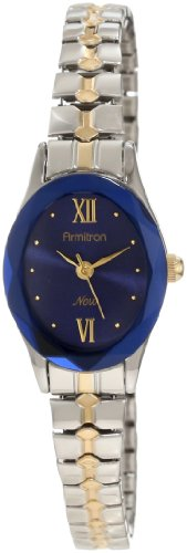 Armitron Women's 753769BLTT NOW Two-Tone Expansion Band with an Oval Blue Dial Dress Watch