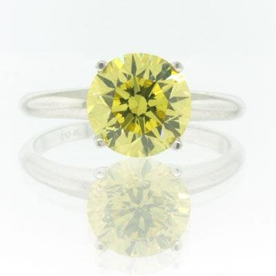 2.27ct Fancy Vivid Yellow Round Brilliant Cut
