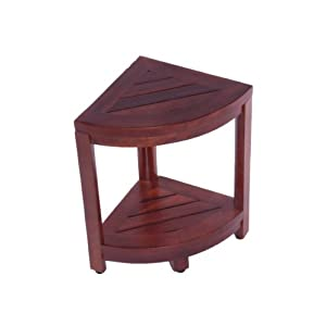 Amazon.com - Oasis Teak Corner Shaving Foot Stool or Double Shelf ...