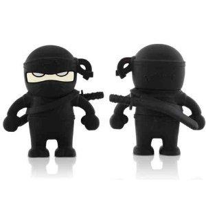 High Quality 16 GB Ninja Shape USB Flash Memory Drive (black) by T &  J