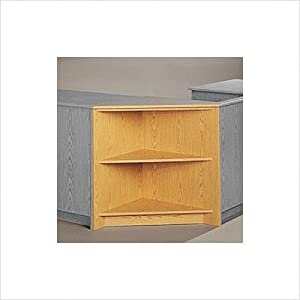 Library Modular Front Desk System - Corner Display Unit Height: 32