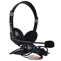iMicro SP-IMTP331 Multimedia Stereo Headphones w/Boom Microphone Inline Volume Control & 3.5mm Jacks