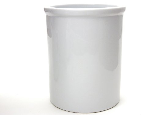 Kitchen Supply 8048 White Porcelain Utensil Holder 6.75 Inch by 5.5 Inch
