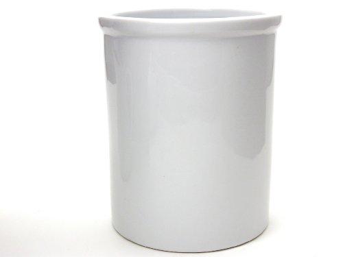 Kitchen Supply 8048 White Porcelain Utensil Holder 6.75 Inch by 5.5 Inch