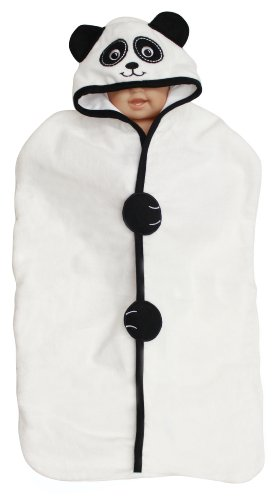 Hooded Velour Bunting Towel, Panda, Frenchie Mini Couture