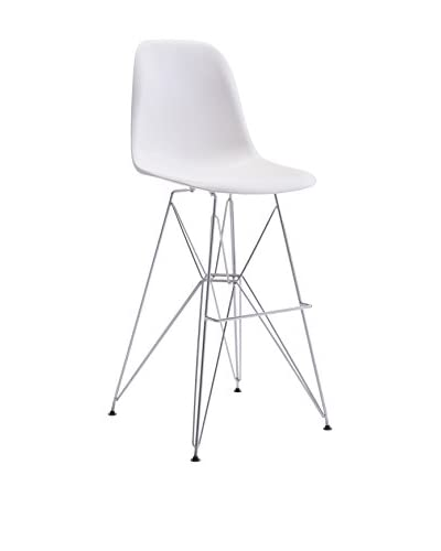 Zuo Modern Zip Modern Bar Chair, White
