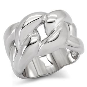 RIGHT HAND RING - High Polished Stainless Steel Continous Knot Ring