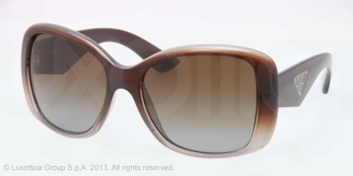 prada Prada PR32PS Sunglasses-PDM/6E1 Brown Grad Gray (Polarized Brown Grad Lens)-57mm
