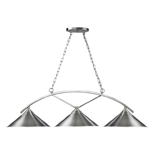 Landmark Lighting Billiards (section) 63006-3 Pool Table / Island Light - 48W in. - Satin Nickel
