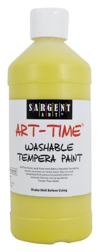 Sargent Art 22-3402 16-Ounce Art Time Washable Paint, Yellow