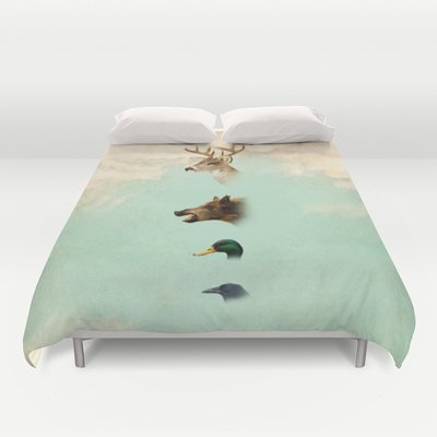 Society6 - Beauty Not For Sale Duvet Cover By Vin Zzep