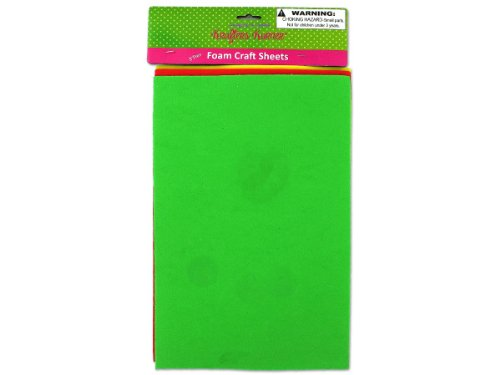 3 Pack Foam Craft Sheets (Assorted Colors) - Case of 48