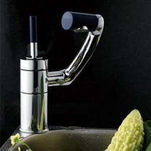 Luxurious Copper Single Handle Hole Swivel Kitchen Bathroom Sink Faucets Mixer Taps