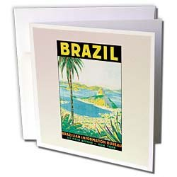 PS Vintage - Vintage Travel Brazil Postcard -
