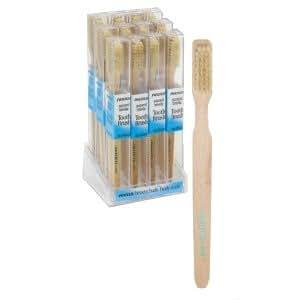 Toothbrush Wood Natural Bristle Medium