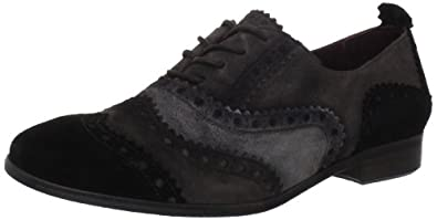 ECCO Women's Norwalk Tie Oxford,Black/Shale/Wild Dove,37 EU/6-6.5 M US