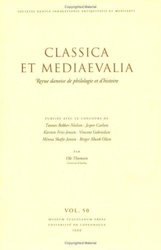Classica et Mediaevalia. Museum Tusculanum Press (DK). 2000.