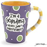 "12 Oz Grandma Coffee Mug with ""I'm A Grandma, What's Your Super Power"" Great Gift?"