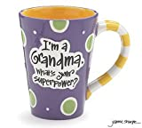 "12 Oz Grandma Coffee Mug with ""Im A Grandma, Whats Your Super Power"" Great Gift?"