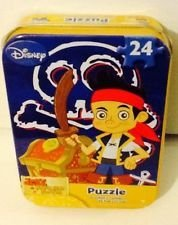 "Jake and The Never Land Pirates 24pc Mini Puzzle in Tin Box 7"" x 5"""