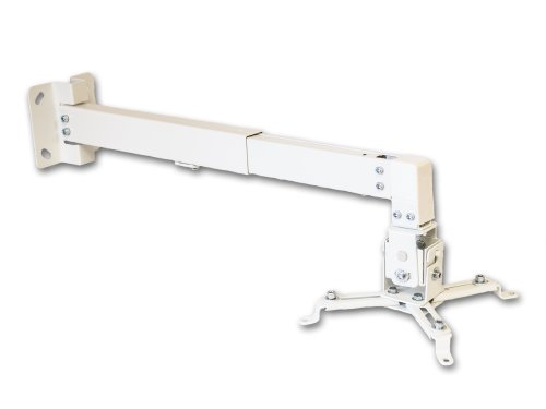 Universal Tilt Projector Ceiling Or Wall Mount Bracket Dlp Lcd - 44 Lbs - White