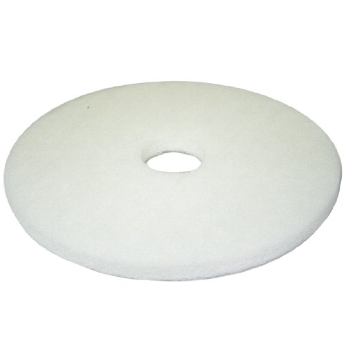 17 inch white non woven floor polishing pad 5 pack home for 17 floor buffer pads