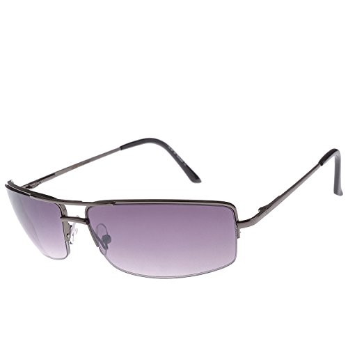 Iris Iris Eyewear IE210 Small Rimless Frame With Black Gradient Sunglasses