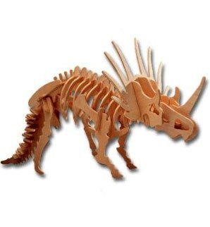 3-D Wooden Puzzle - Large Styracosaurus -Affordable Gift for your Little One! Item #DCHI-WPZ-BJ-006 - 1