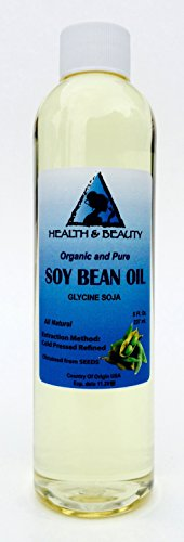 Soybean / Soy Bean Oil Organic Carrier SOY OIL Cold Pressed 100% Pure 8 oz