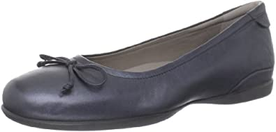 ECCO Women's Cosmic Ballerina Flat,Black Metallic,38 EU/7-7.5 M US