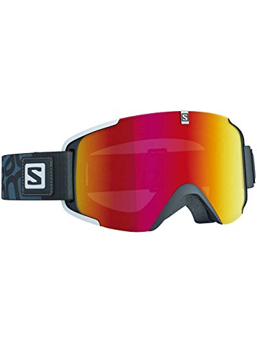 Salomon L37779200_Black/Univ Mid Red_One Size - Maschera da sci Unisex, taglia unica, colore: Black/Univ Mid Red