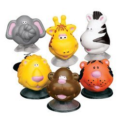 12 Zoo Animal Pop Up Toys