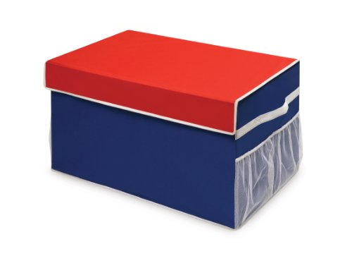 Badger Basket Large Folding Storage Box, Blue/Red