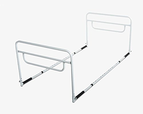rms bed rail adjustable height bed assist rail bed side hand rail fits king queen full u0026 twin beds lifetime warranty seniors emporium