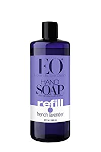 EO Hand Soap Refill, French Lavender, 32 oz (Pack of 2)
