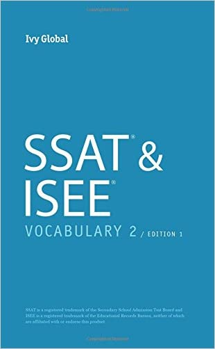SSAT & ISEE Vocabulary 2, Edition 1