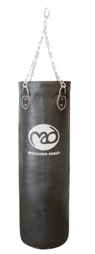 Boxing-Mad Heavy Duty PVC Punch Bag 90cm x 30cm - Black