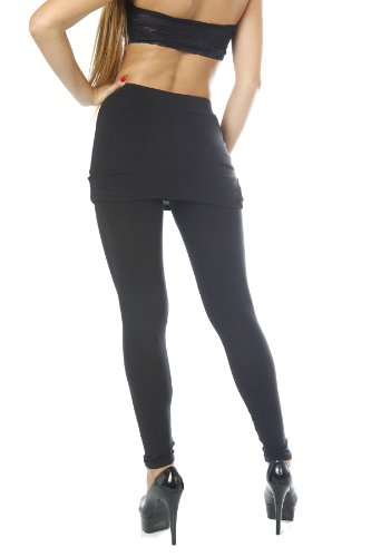 Skirt Over Leggings Dance u0026 Yoga Active Sports Wear - Black Size - Small Apparel Accessories ...