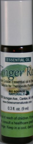 Ginger Root (Zingiber Officinale) Pure Essential Oil 1/3 Fl. Oz. (9 Ml) Roll On -