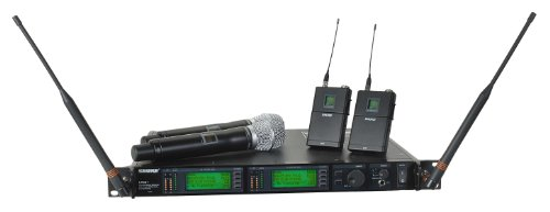 Shure Ur124D/Sm86 Dual-Channel Combo Wireless System, H4