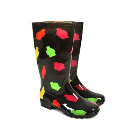 Jiglz Jelly People Wellies (Black)