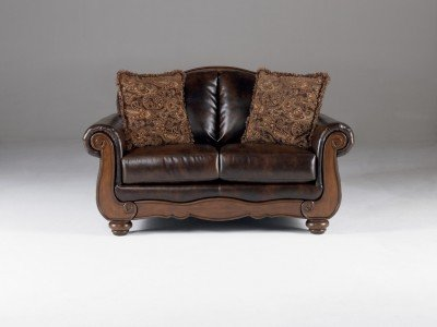 Signature Design by Ashley Barcelona Loveseat Antique 0