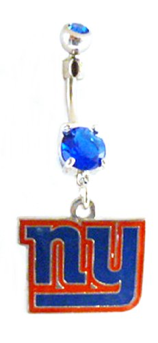 New York Giants NFL Football Sports Dangle Belly Ring Body Jewelry at Amazon.com