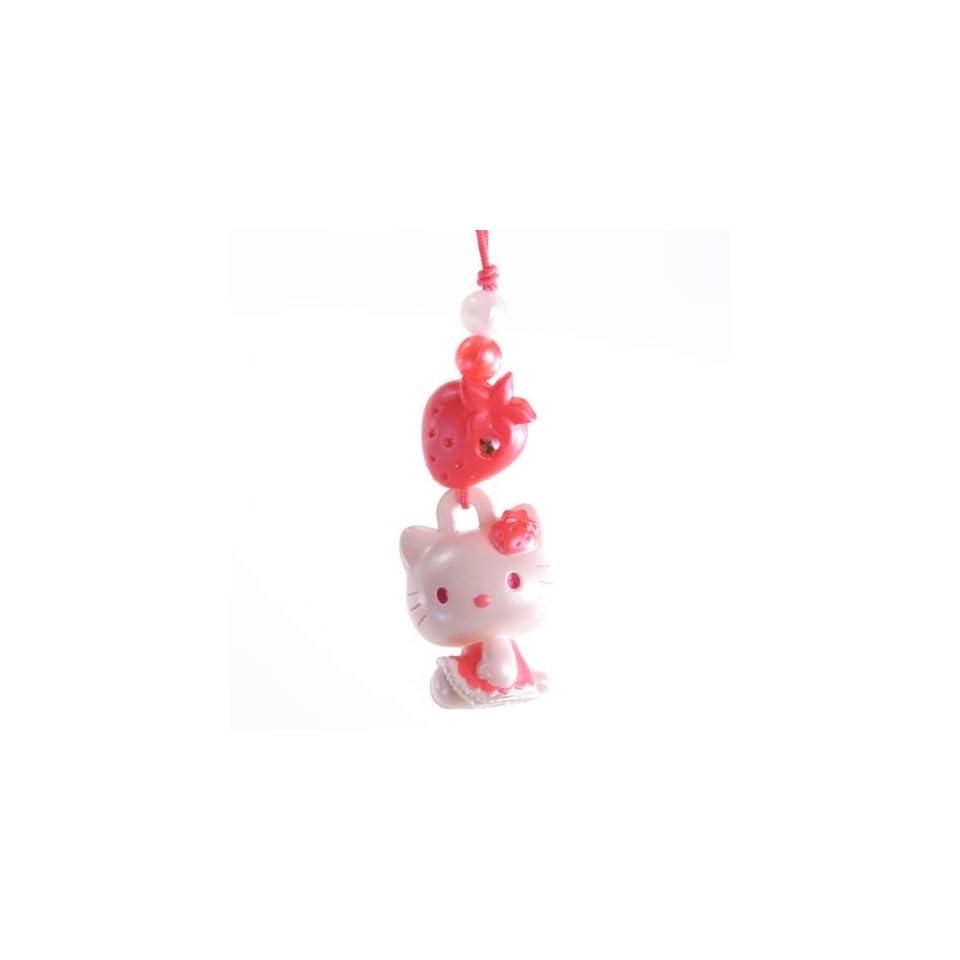 Hello Kitty Charm Mascot    Red Strawberry   Japanese Import